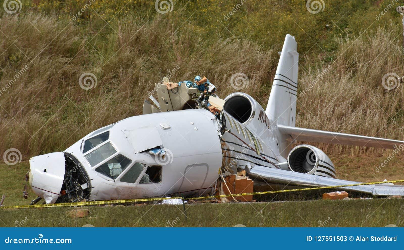 Dassault jastrząbek 50 rozbija w Greenville SC