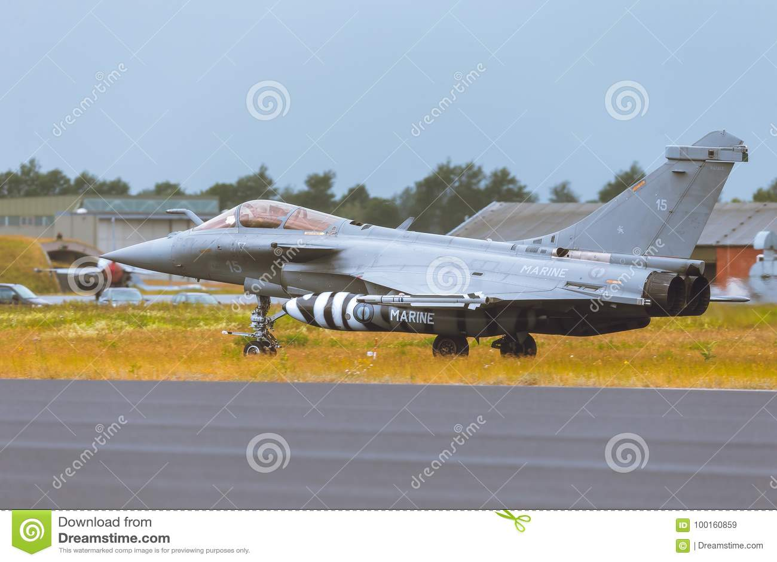 Dassault Rafale At NATO Tiger Meet 2014 Editorial Stock
