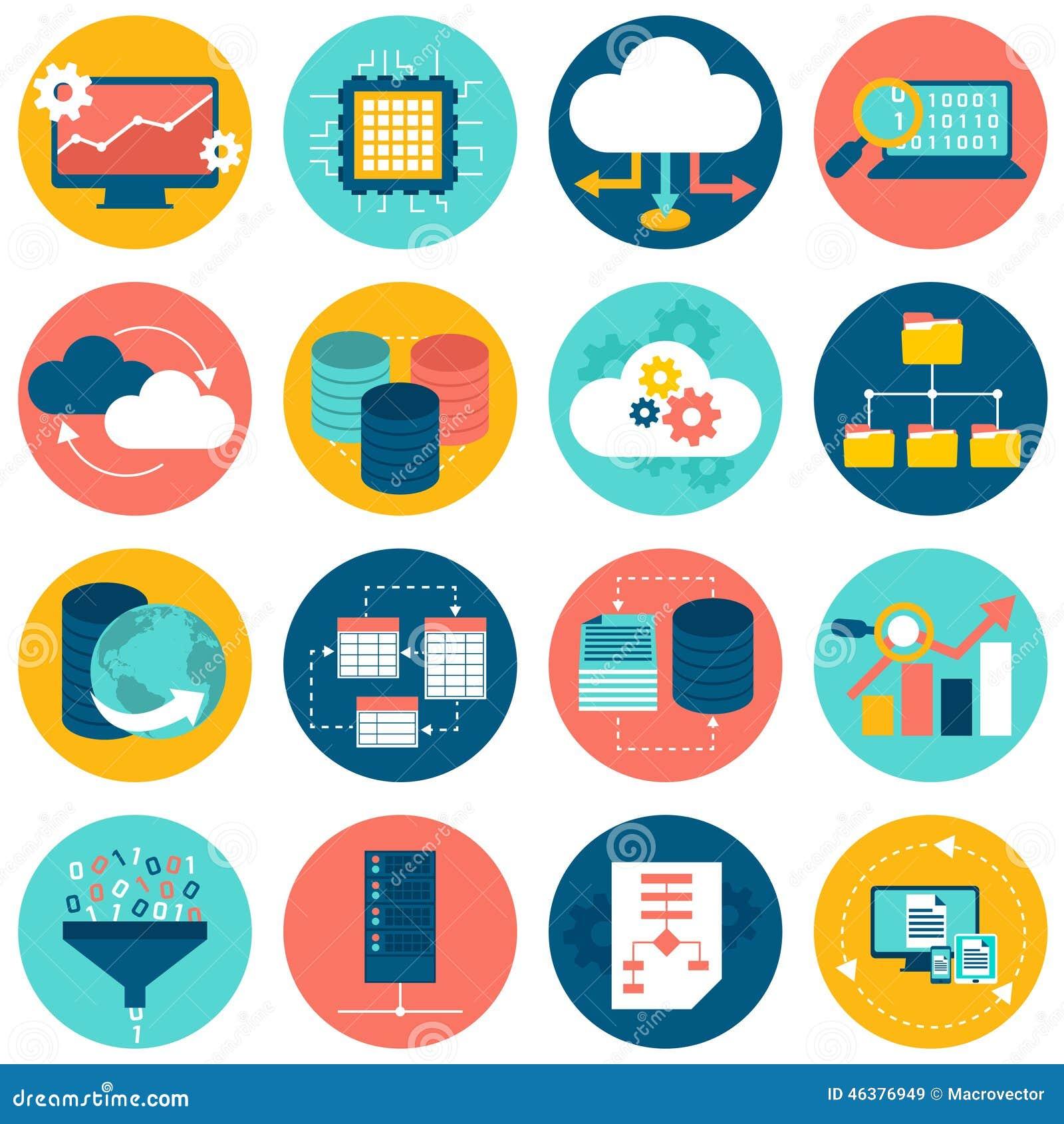Data Analysis Icons Stock Vector - Image: 46376949