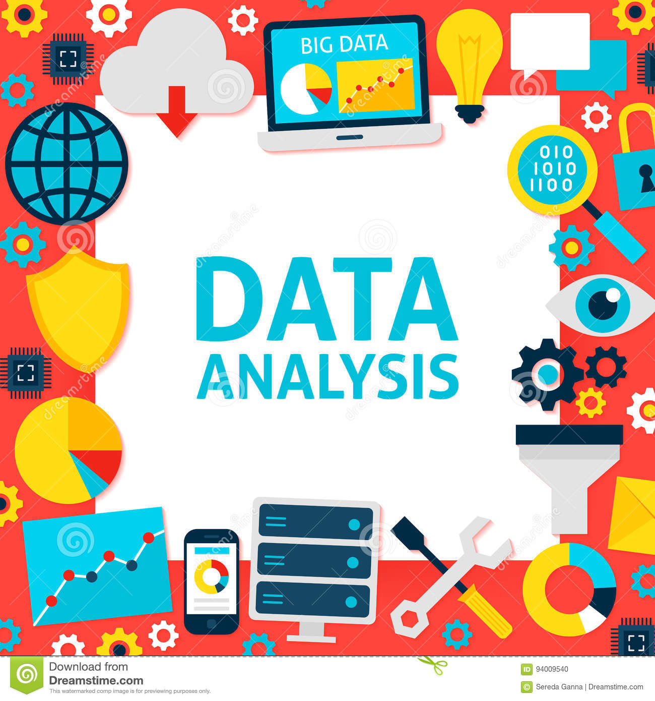 Data Analysis Paper Template Stock Vector Image 94009540