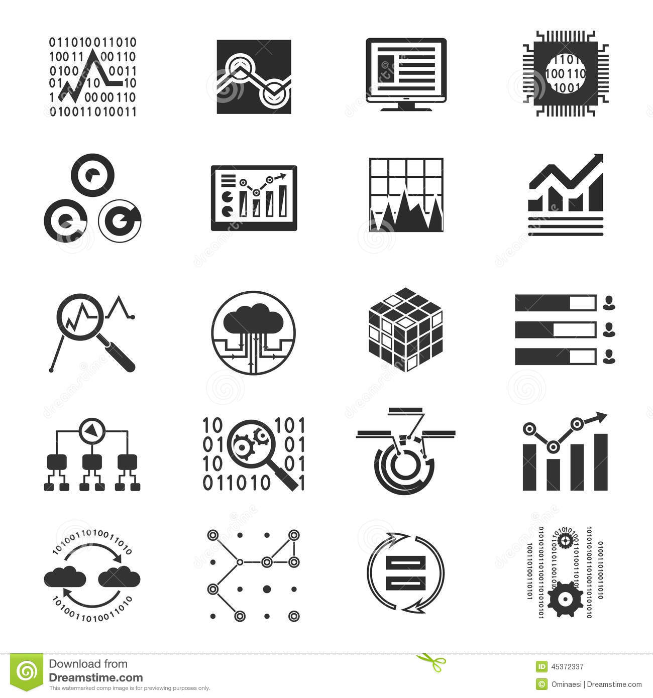 icons set analytic and investments vector illustration