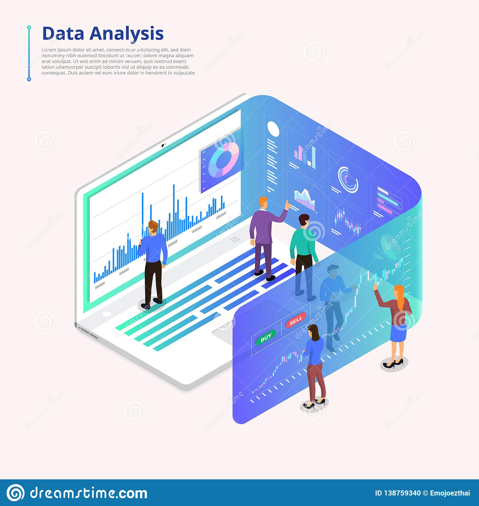 Data analytics tools stock vector  Illustration of template