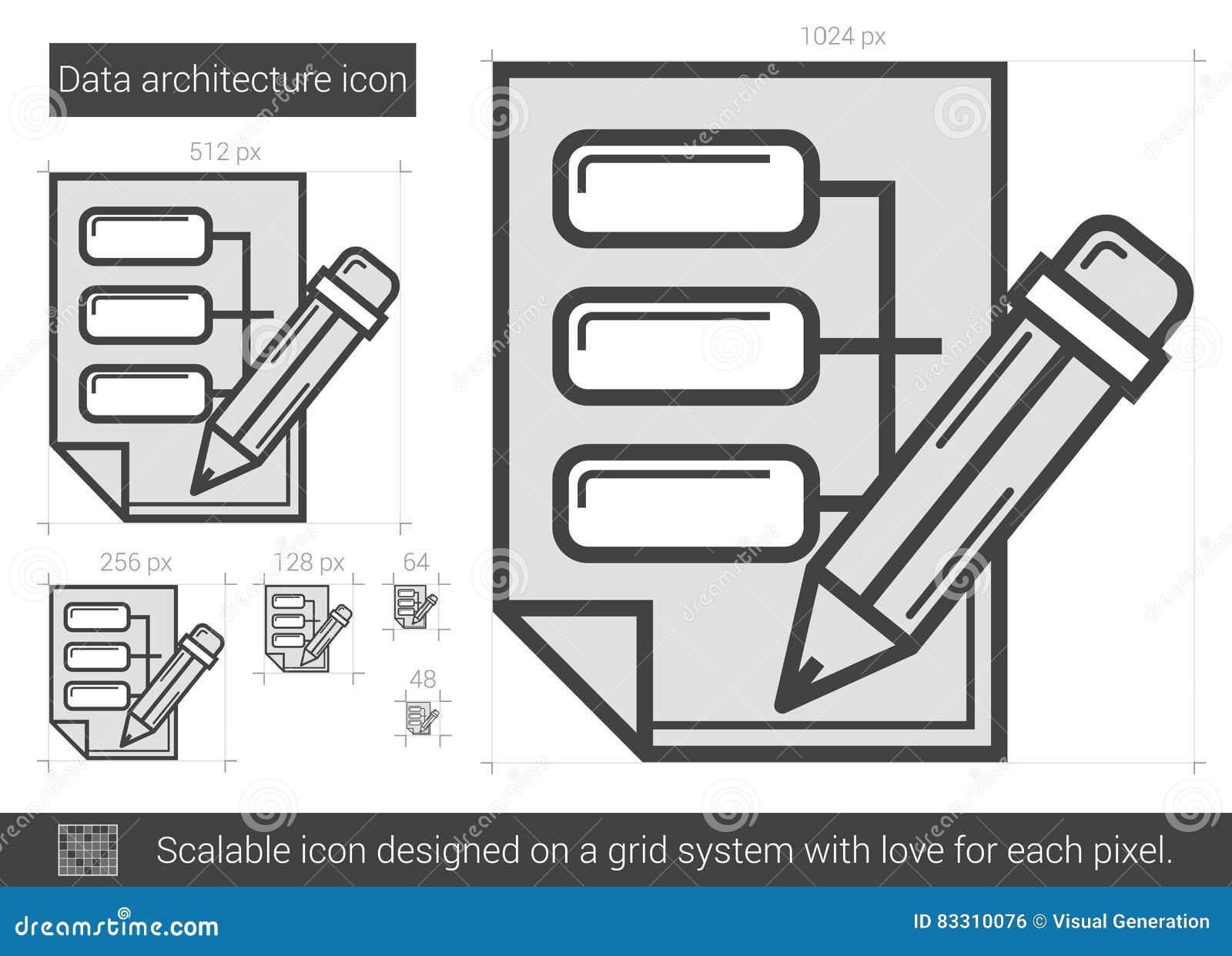 Data Architecture Line Icon