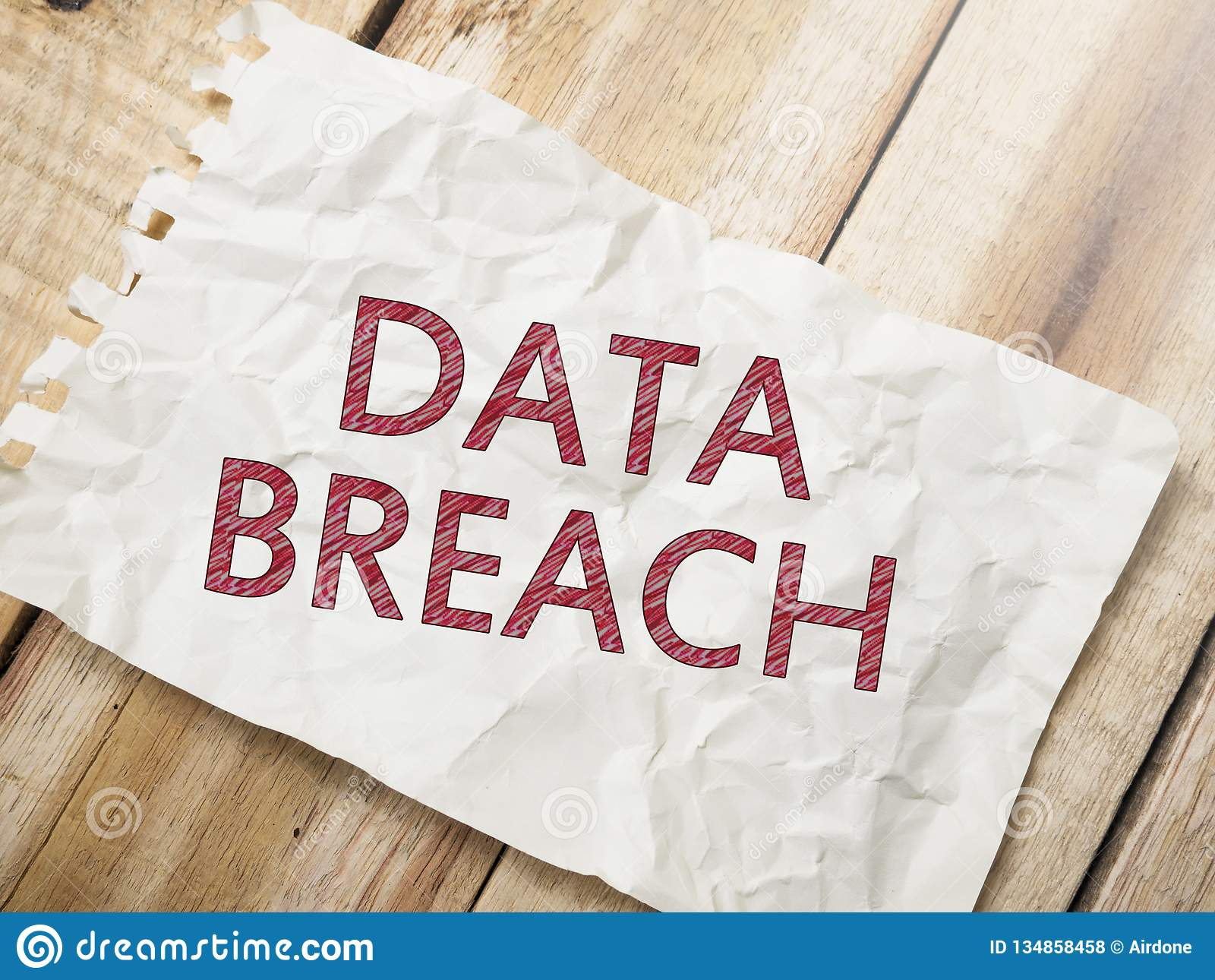 Data Breach, Internet Crime Words Concept