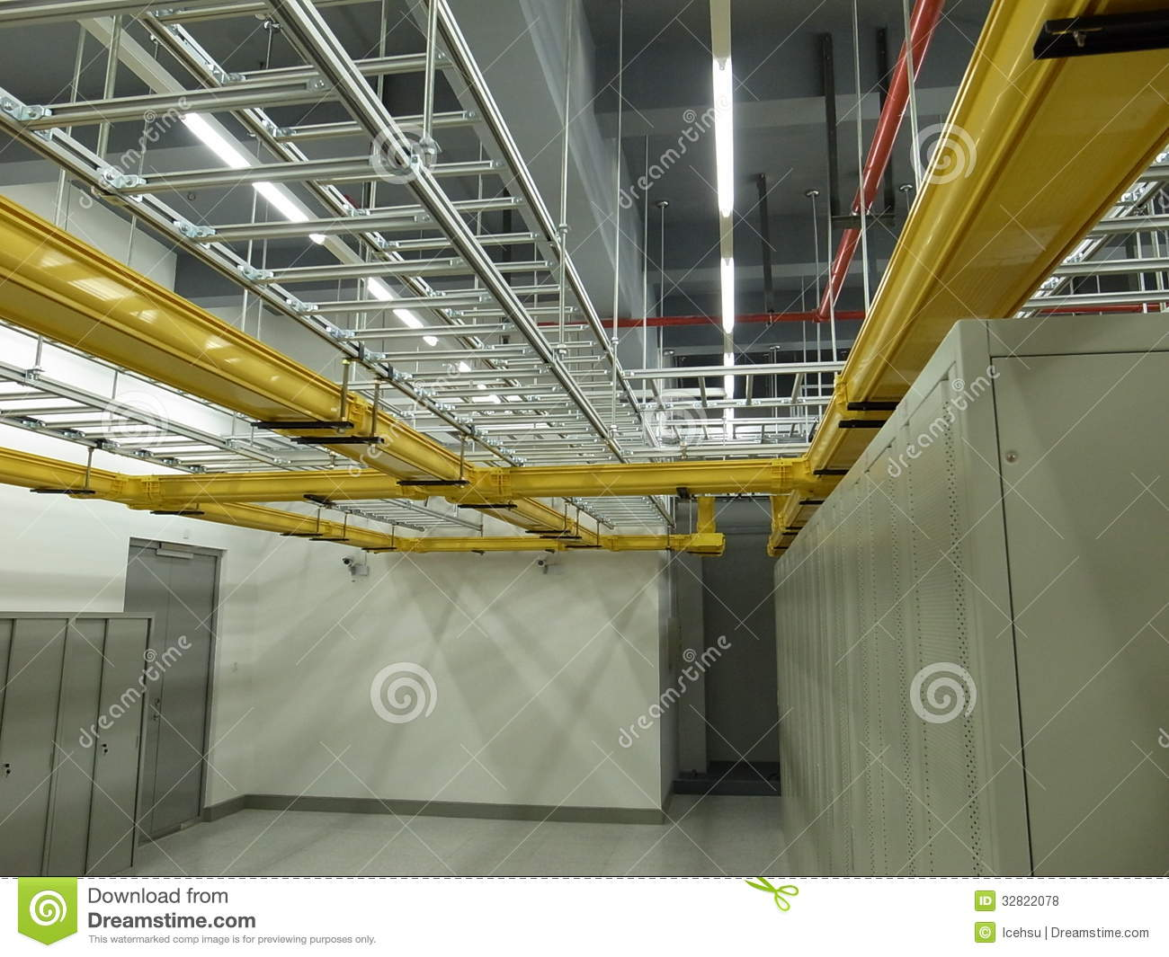 Data center cable trays setup royalty free stock photos for Data center setup
