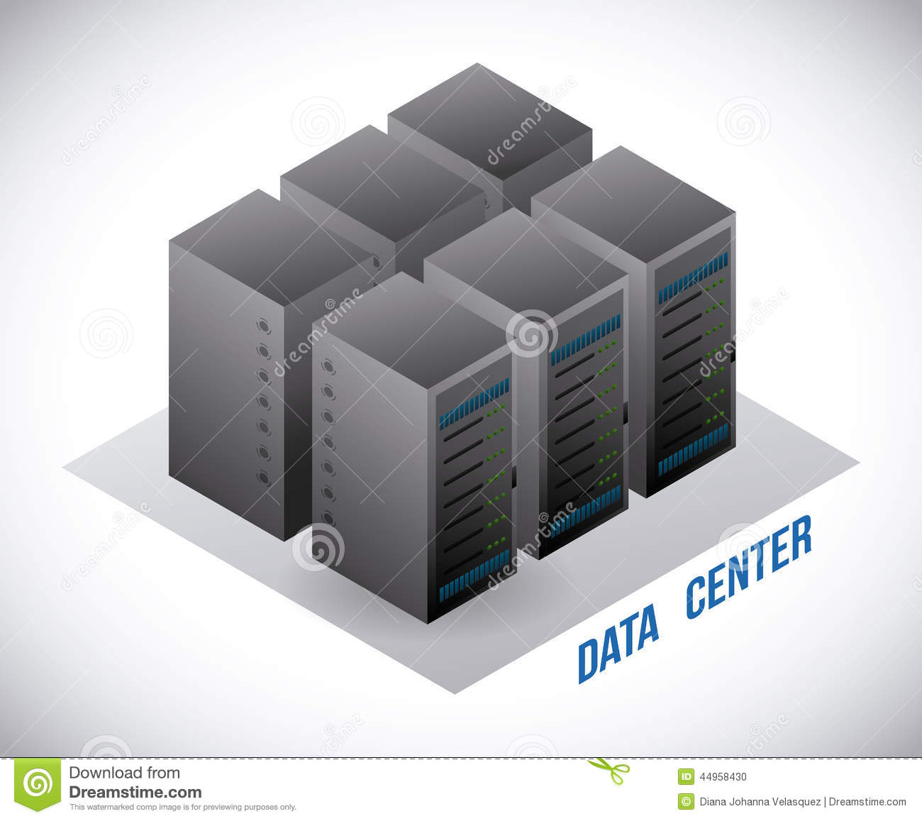 Data Center Design Stock Vector Image 44958430