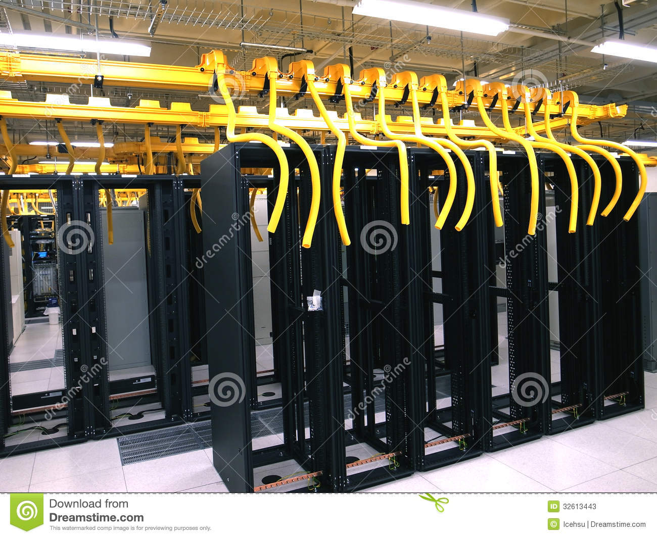 Data center rack and stacks stock image image 32613443 for Data center setup