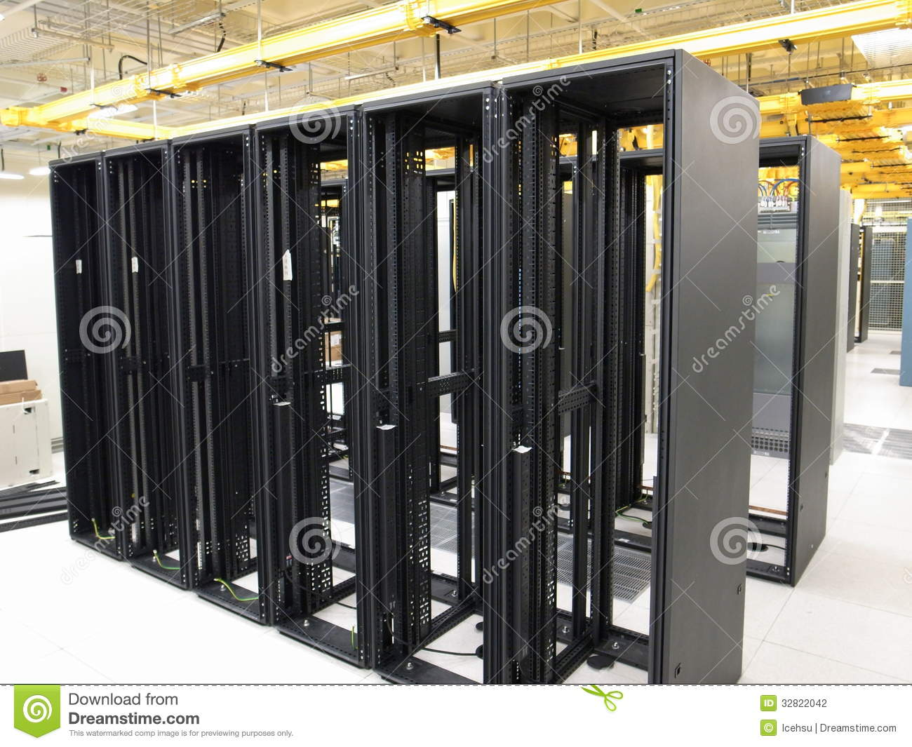 Data center rack and stacks stock photography image for Data center setup