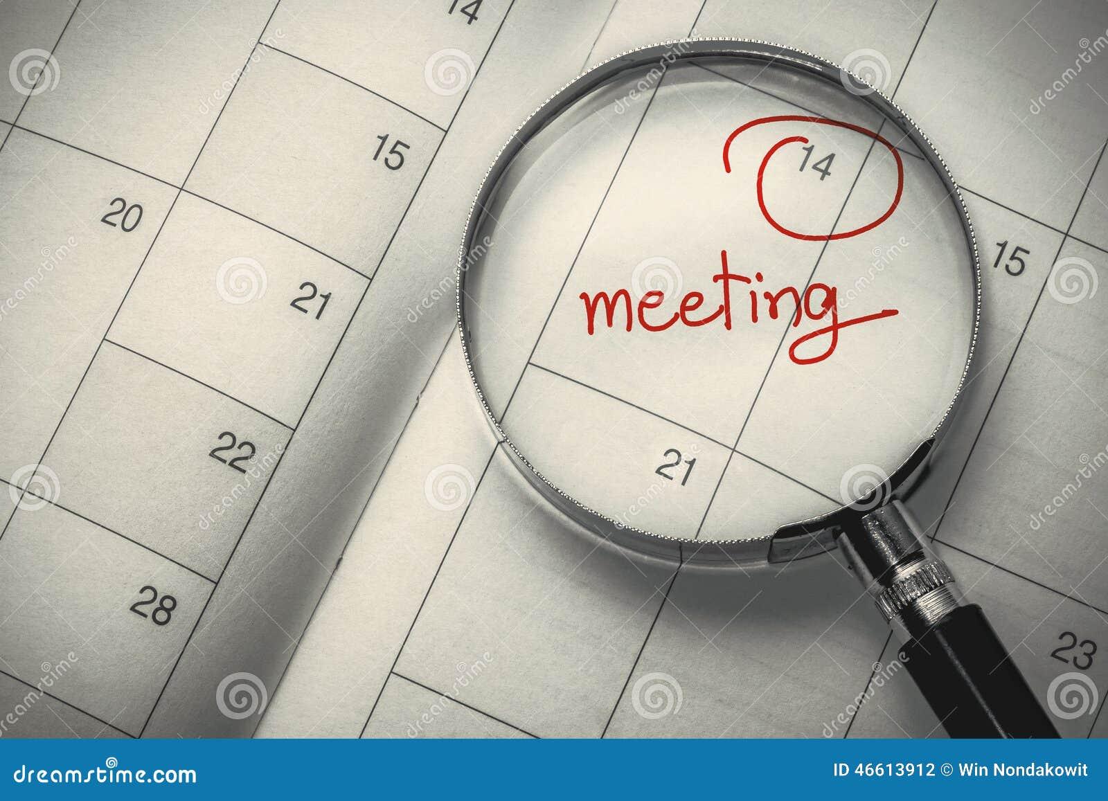Data da reunião