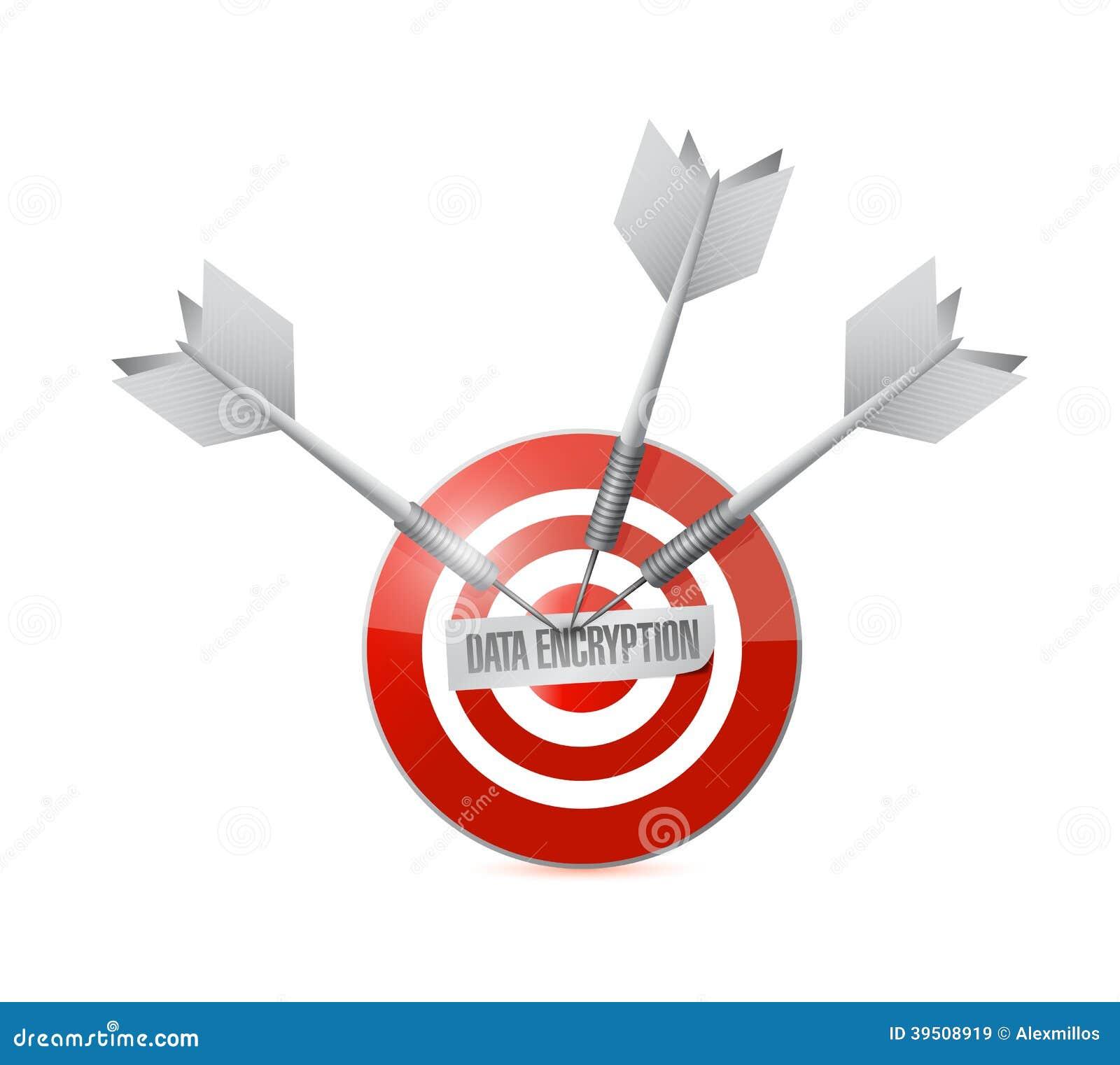 Data encryption target illustration design