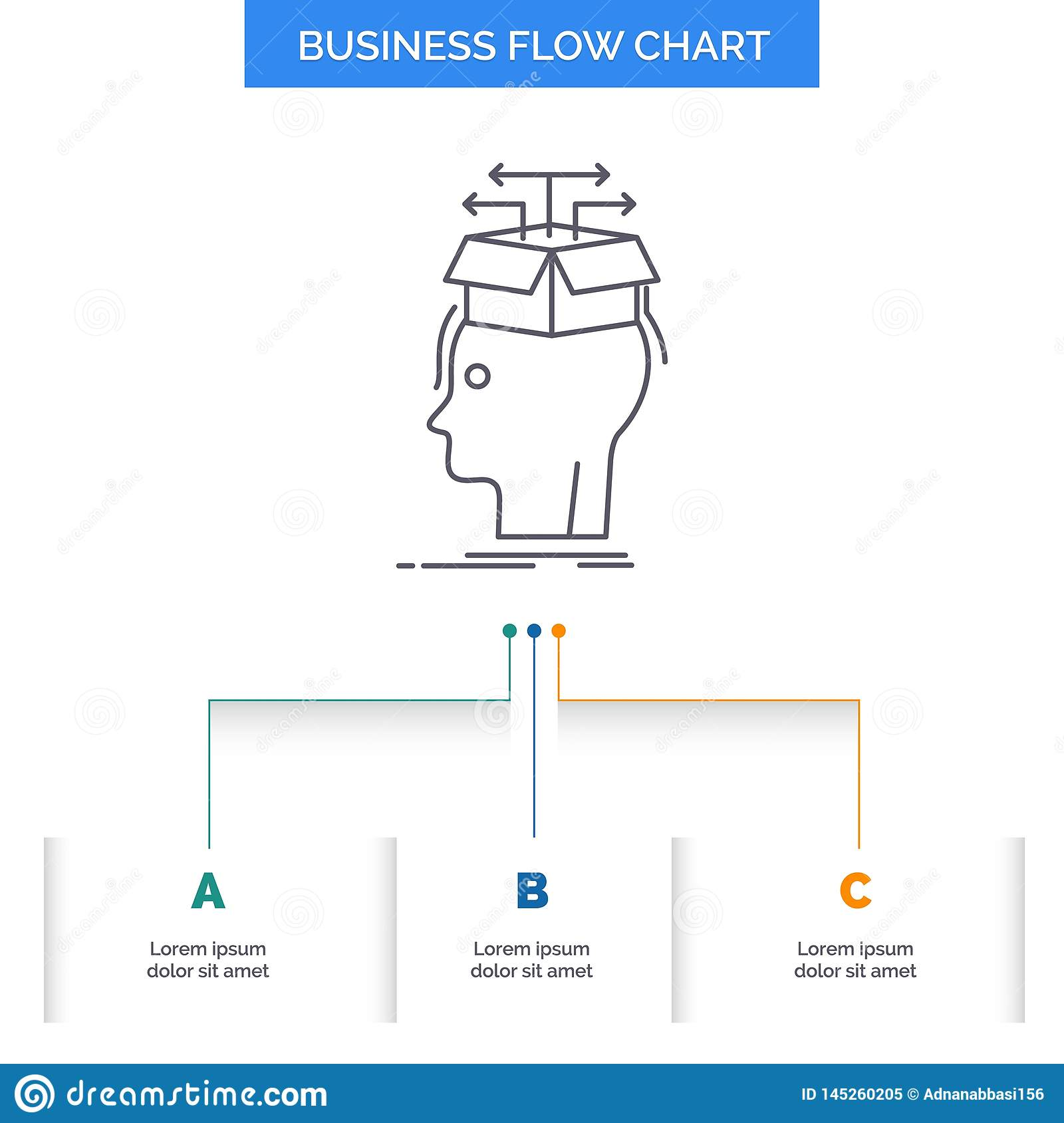 Data Extraction Head Knowledge Sharing Business Flow Chart Design With 3 Steps Line Icon For Presentation Background Template Stock Vector Illustration Of Blue Outdoors 145260205