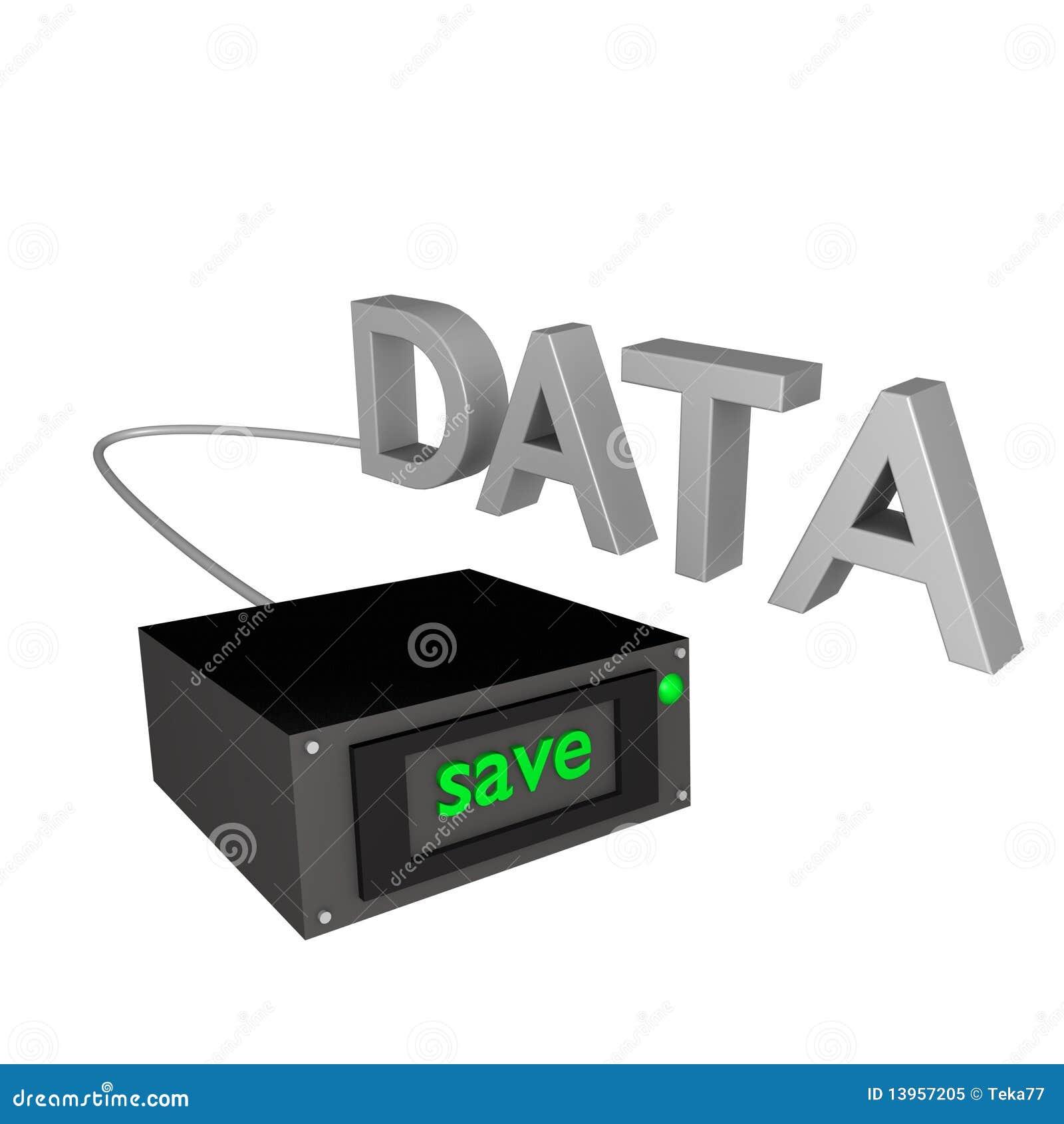 Data för säkerhetskopia 3d