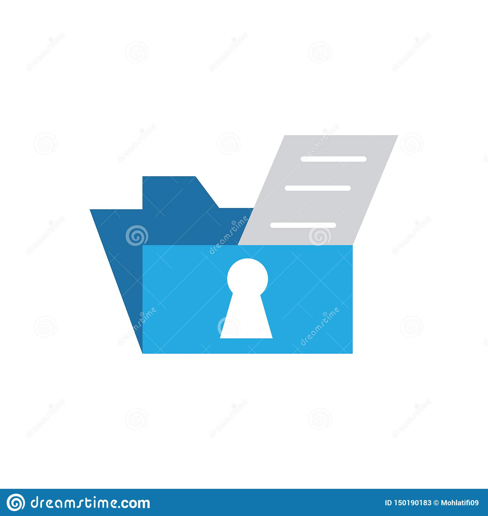Data File Security Vector