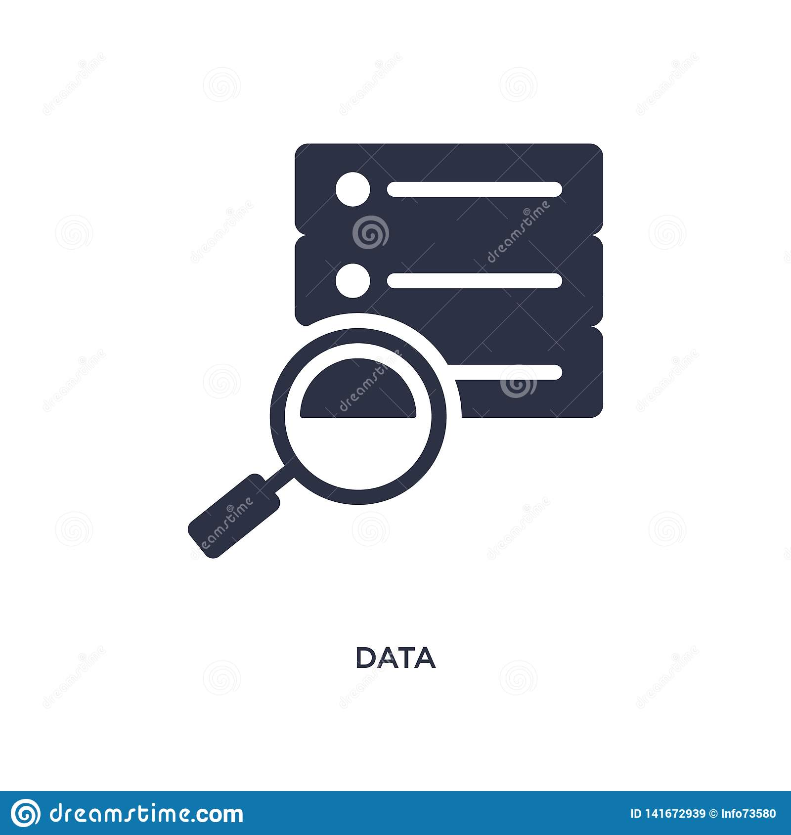 data icon on white background. Simple element illustration from strategy concept