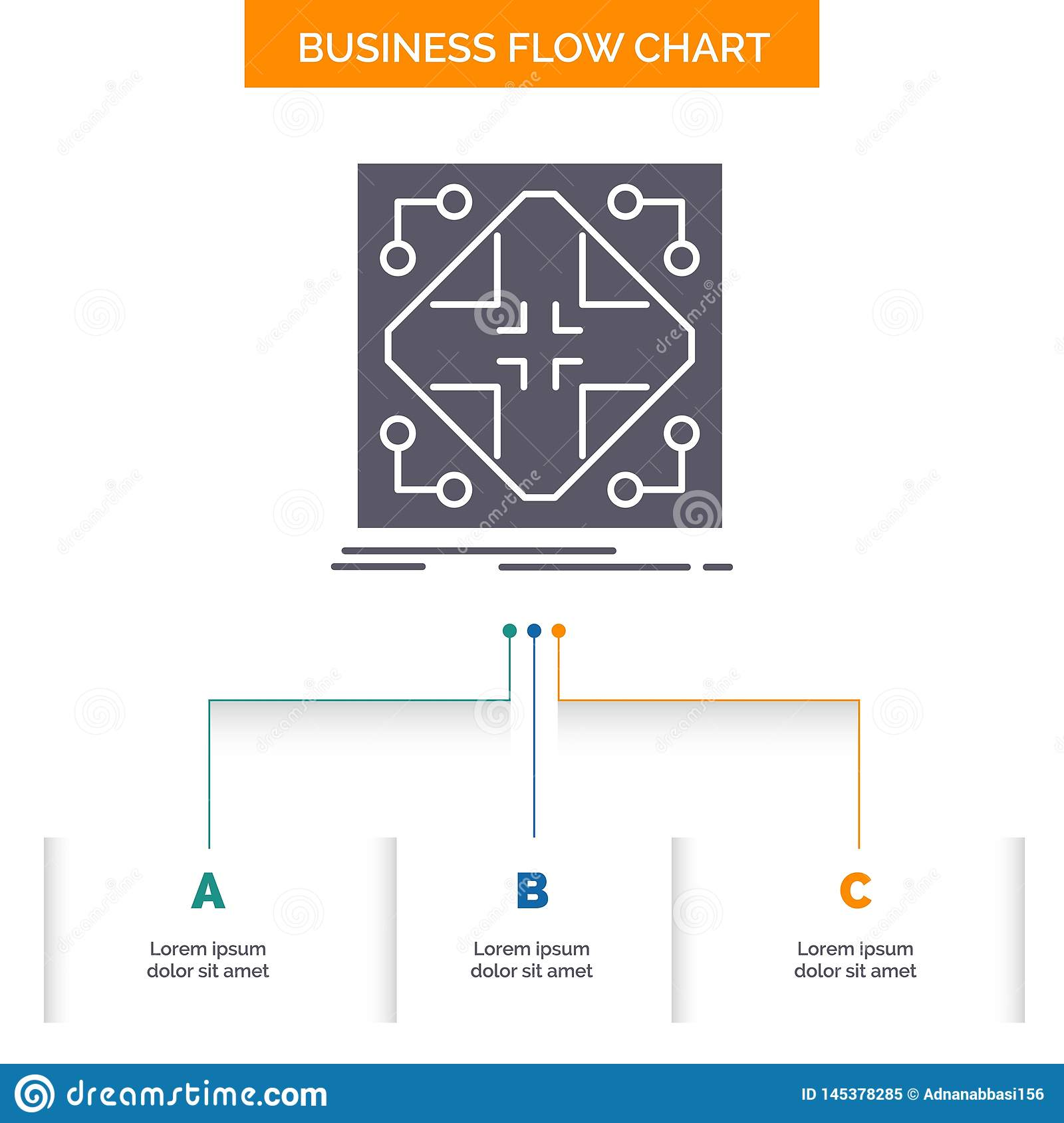 Data Infrastructure Network Matrix Grid Business Flow Chart Design With 3 Steps Glyph Icon For Presentation Background Stock Vector Illustration Of Application Black 145378285