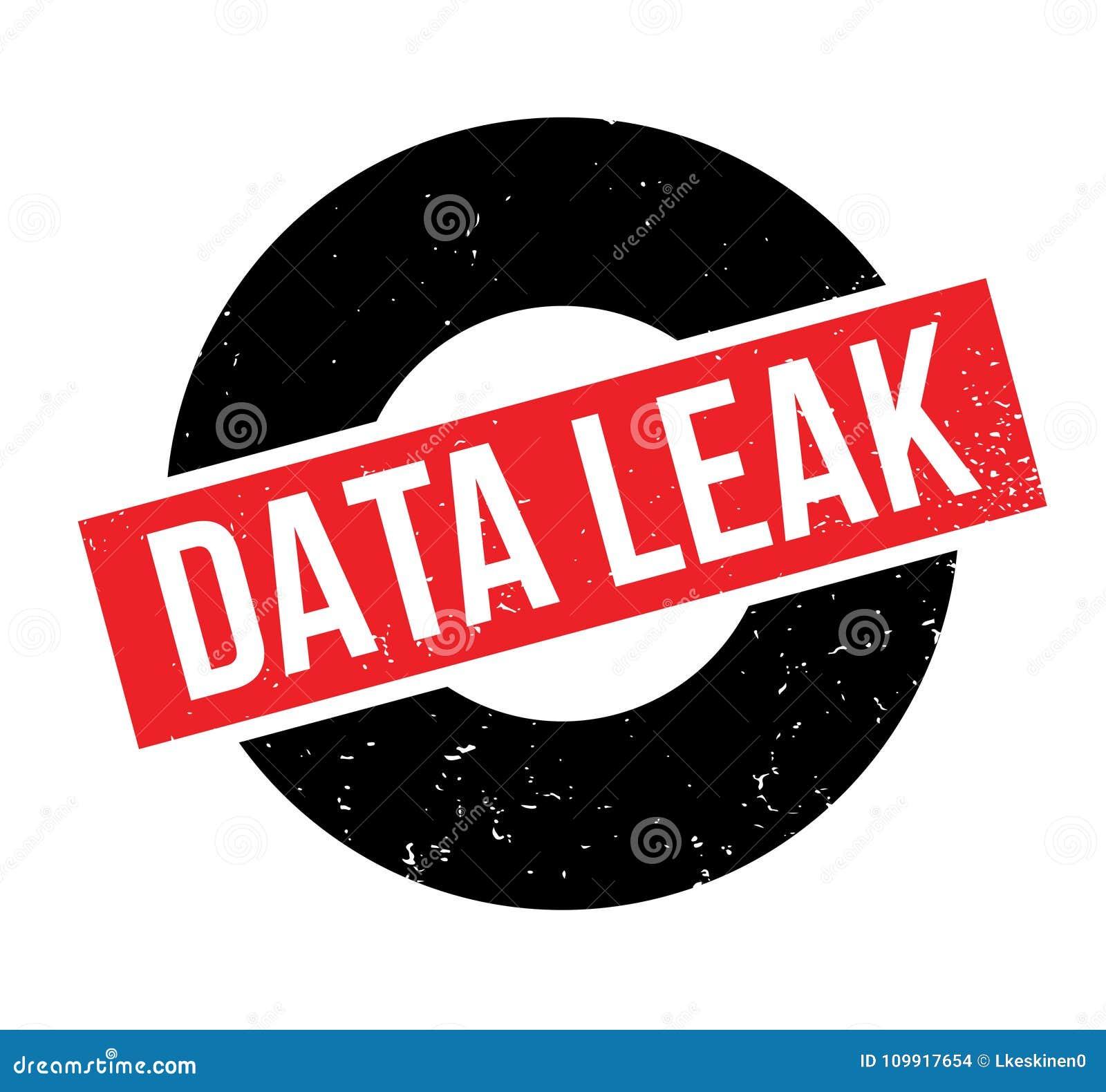 Data Leak rubber stamp stock vector  Illustration of illustration