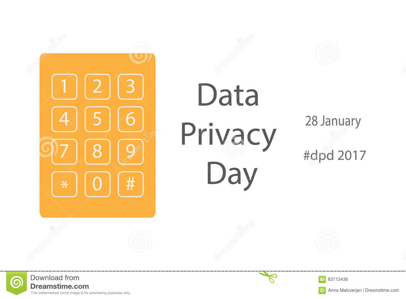 Data Privacy Day Stock Vector