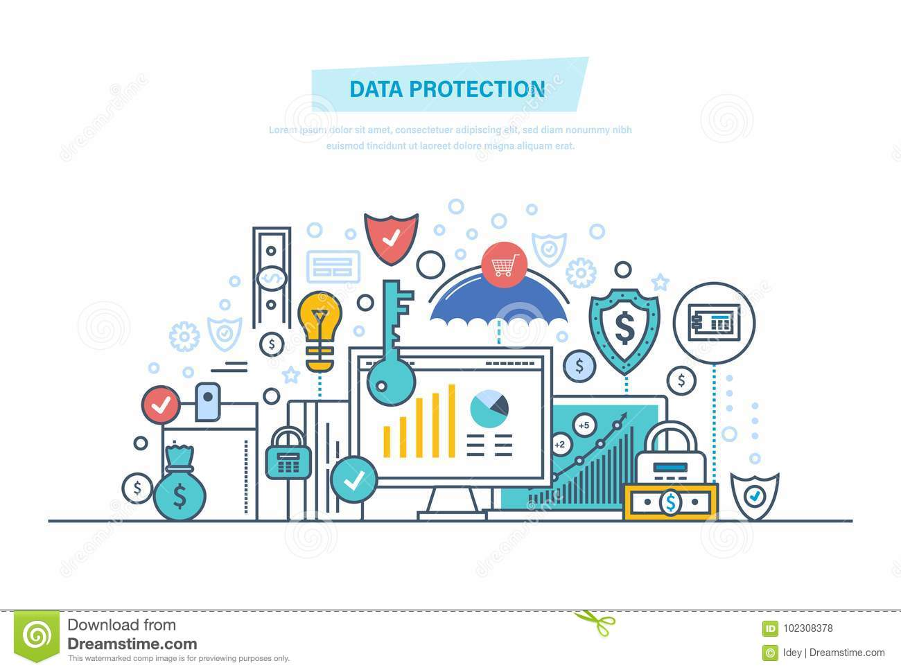 Data Information Security Protection Antivirus Software Privacy Safe Confidential Finance
