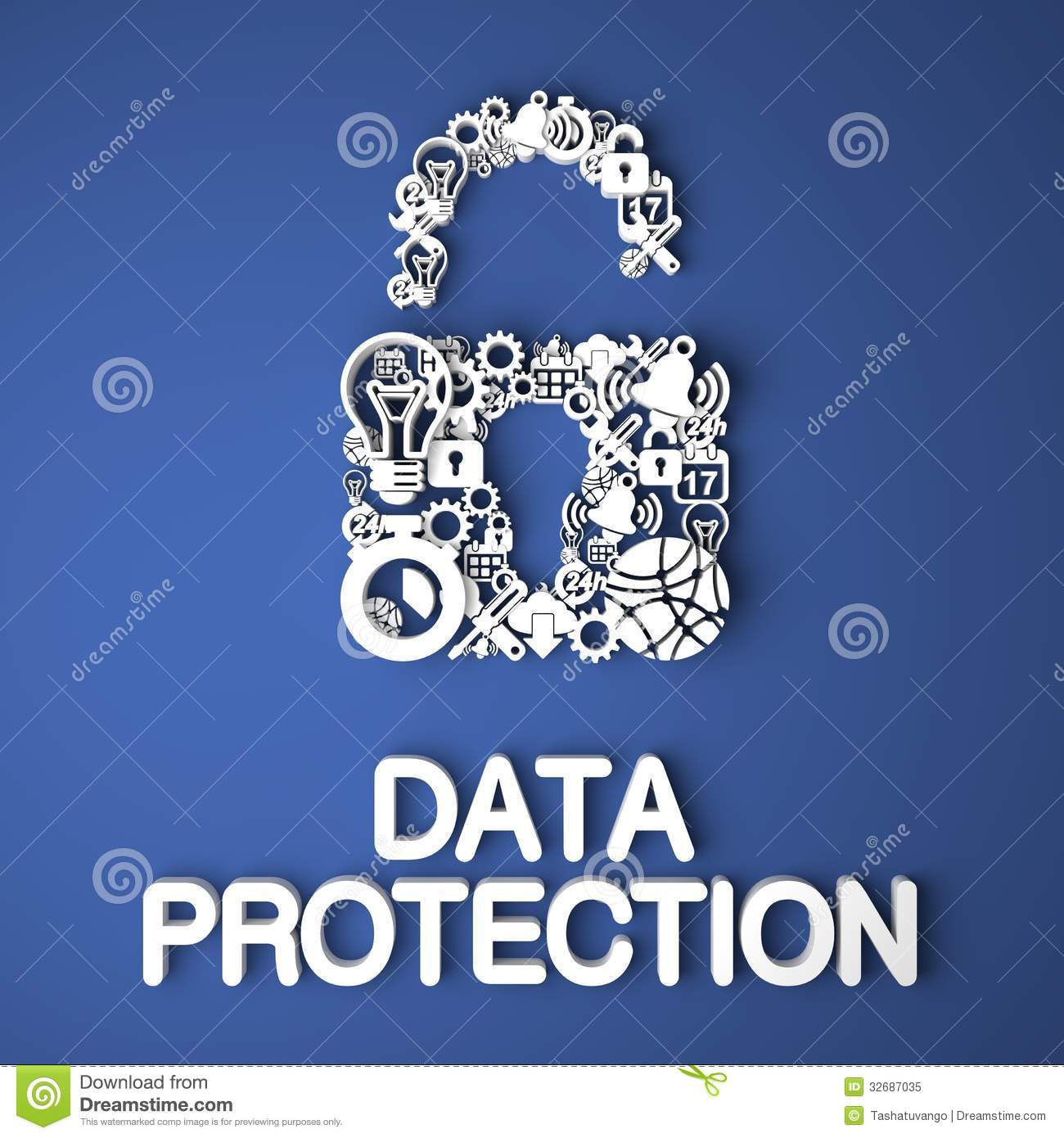 Data Protection Concept. Royalty Free Stock Photo - Image: 32687035