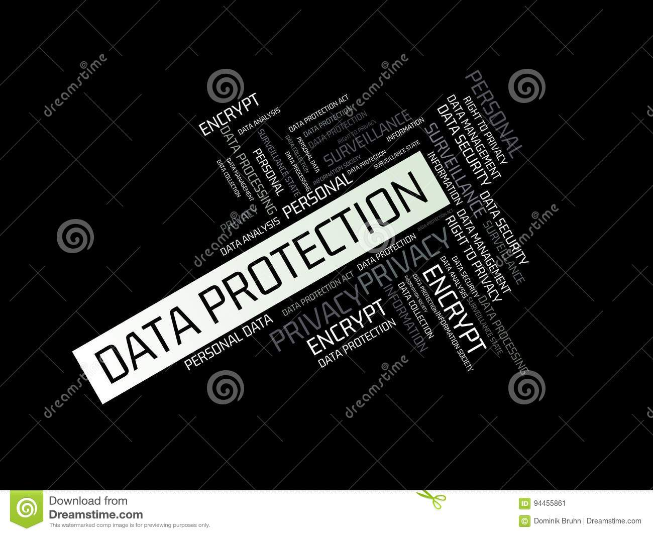 Data Protection Image With Wordsociated With The Topic Data Protection Word Cloud Cube Letter Image Il Ration