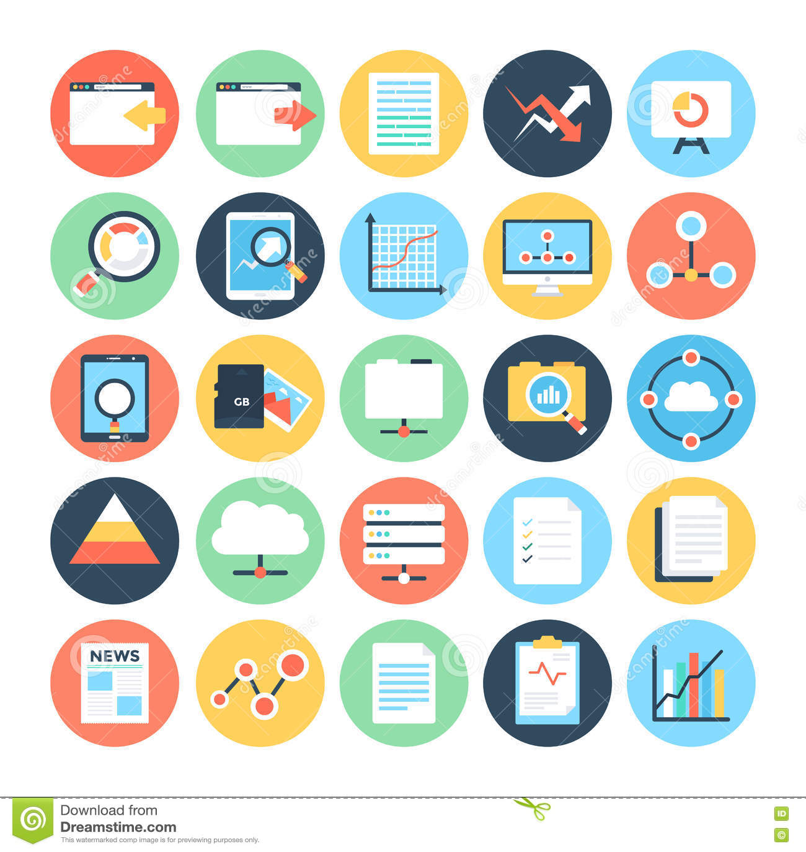 data science vector icons 3 stock illustration illustration of
