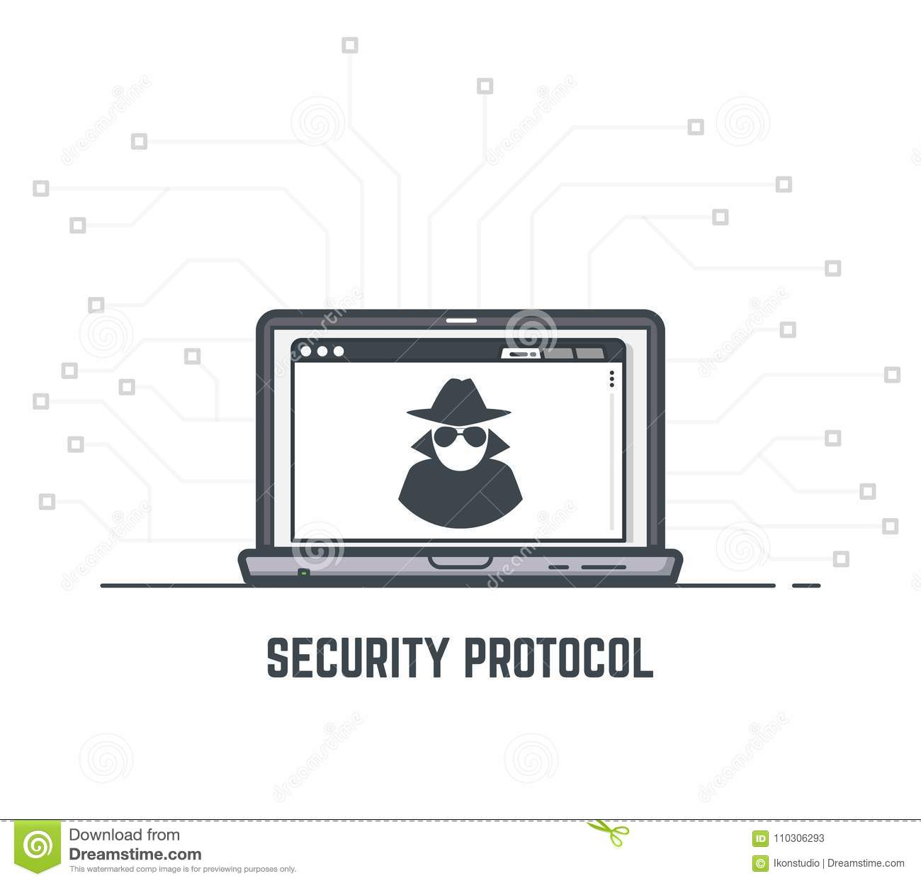 Security protocol stock vector  Illustration of icon - 110306293