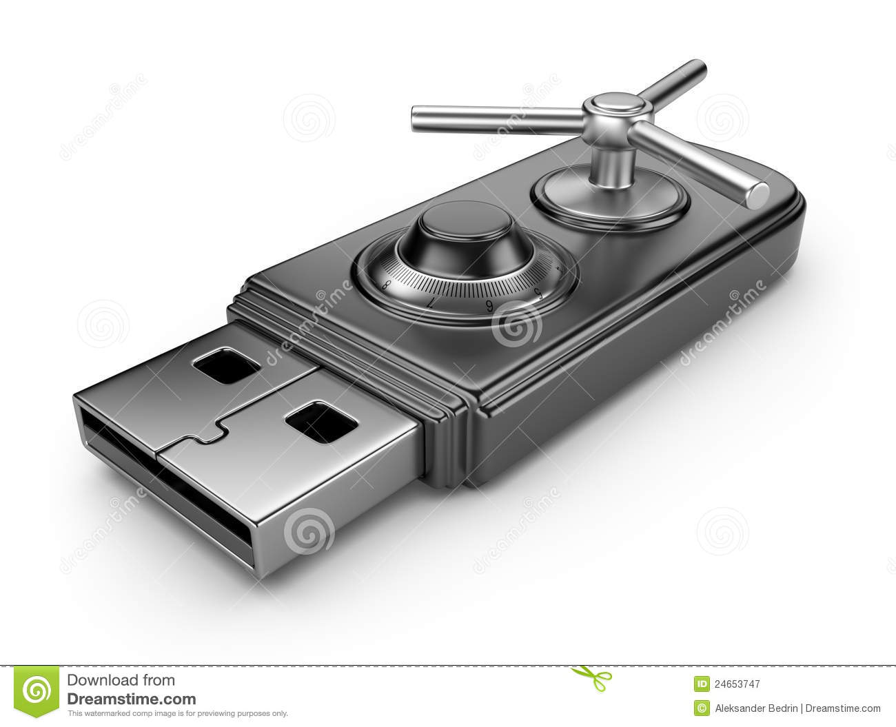 Download Data Security Concept. USB Flash Drive 3D Stock Illustration - Illustration of illustration, information: 24653747