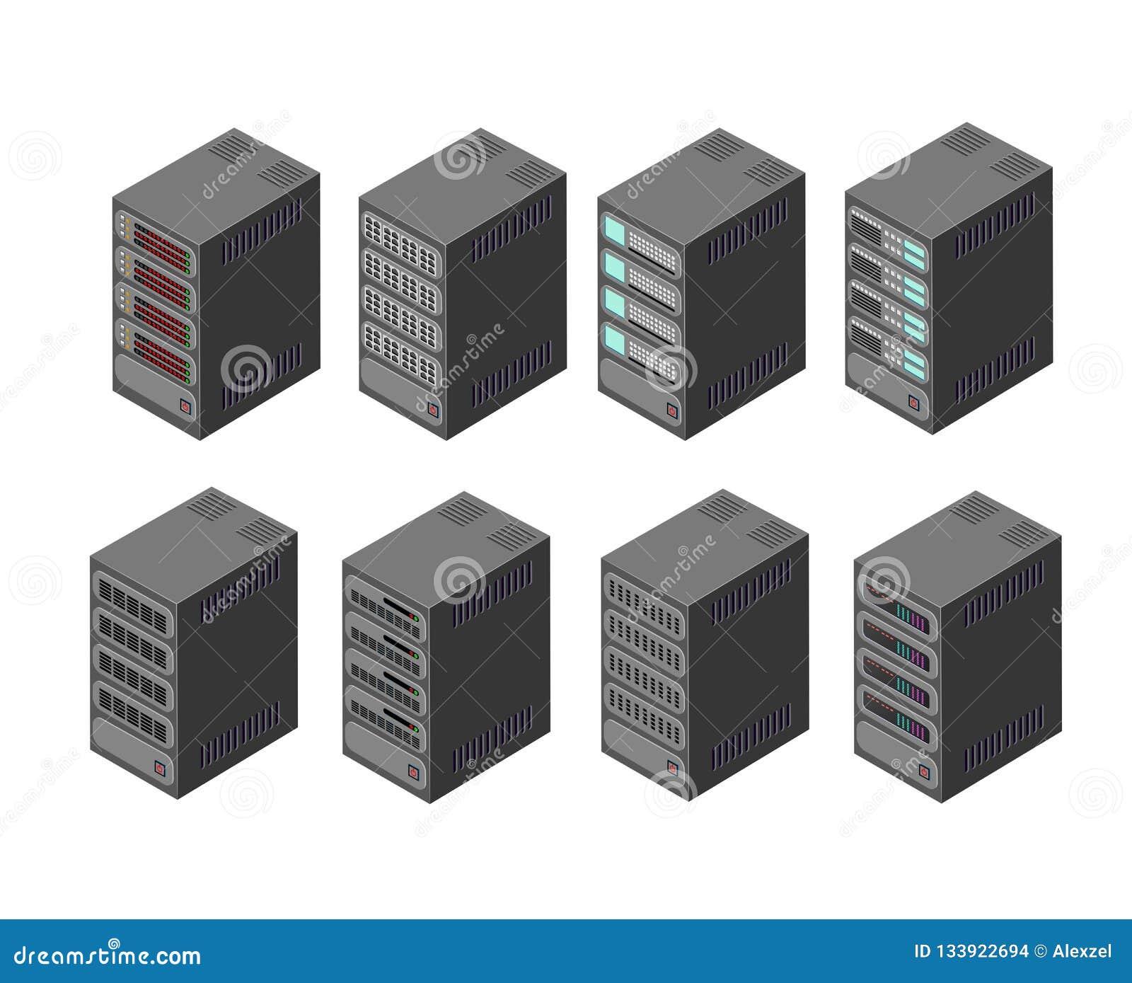 Data Server Network Stock Vector Illustration Of Internet 133922694