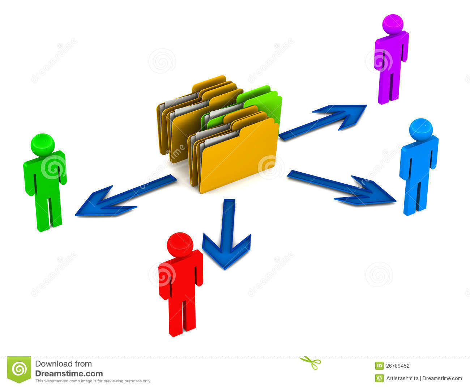 Data Share Stock Photography Image 26789452