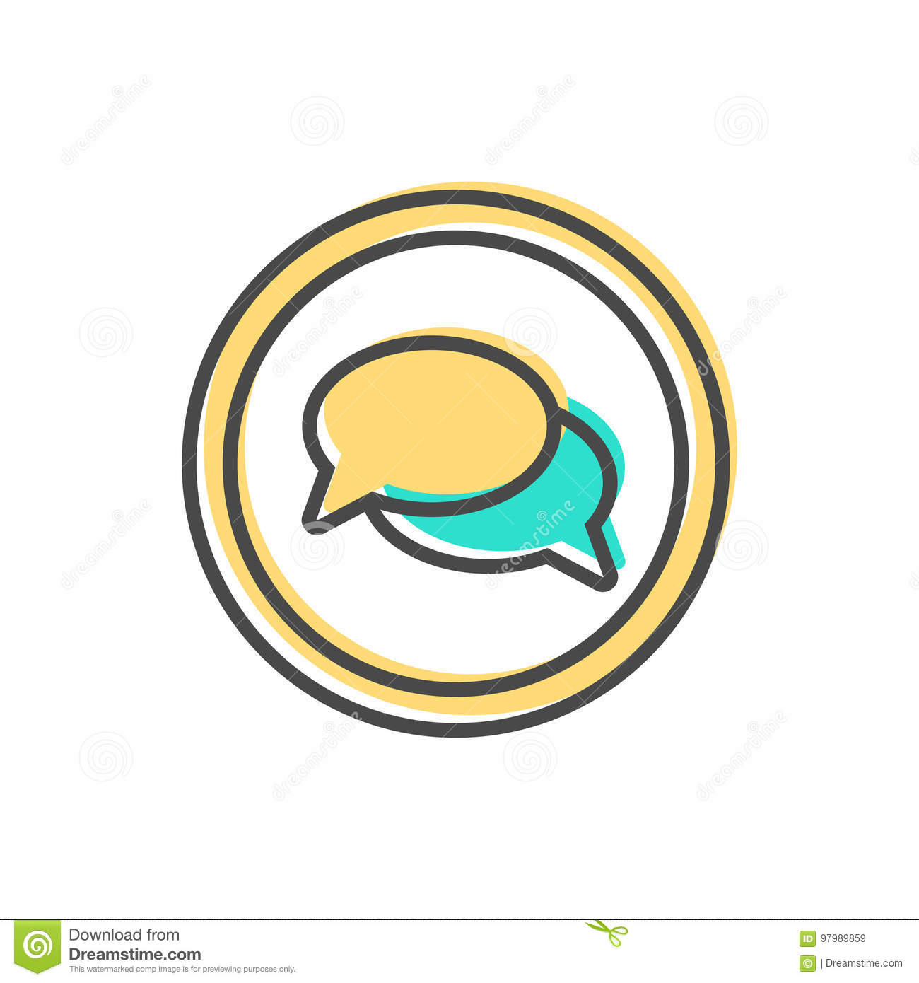 download data sorting icon with speech bubble sign stock vector illustration of processing analyst