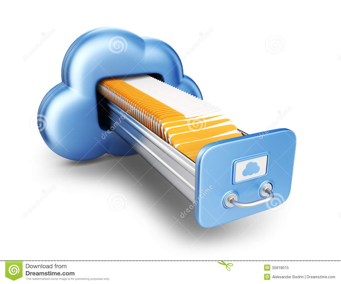 Data Storage. Cloud Computing Concept. 3D Icon Isolated Royalty Free ...