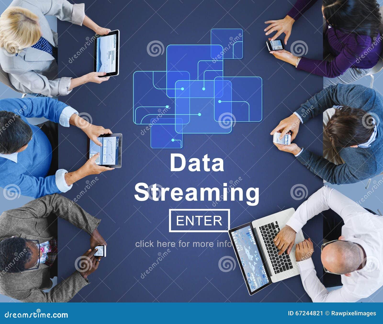 Data Streaming Online Web Media Concept