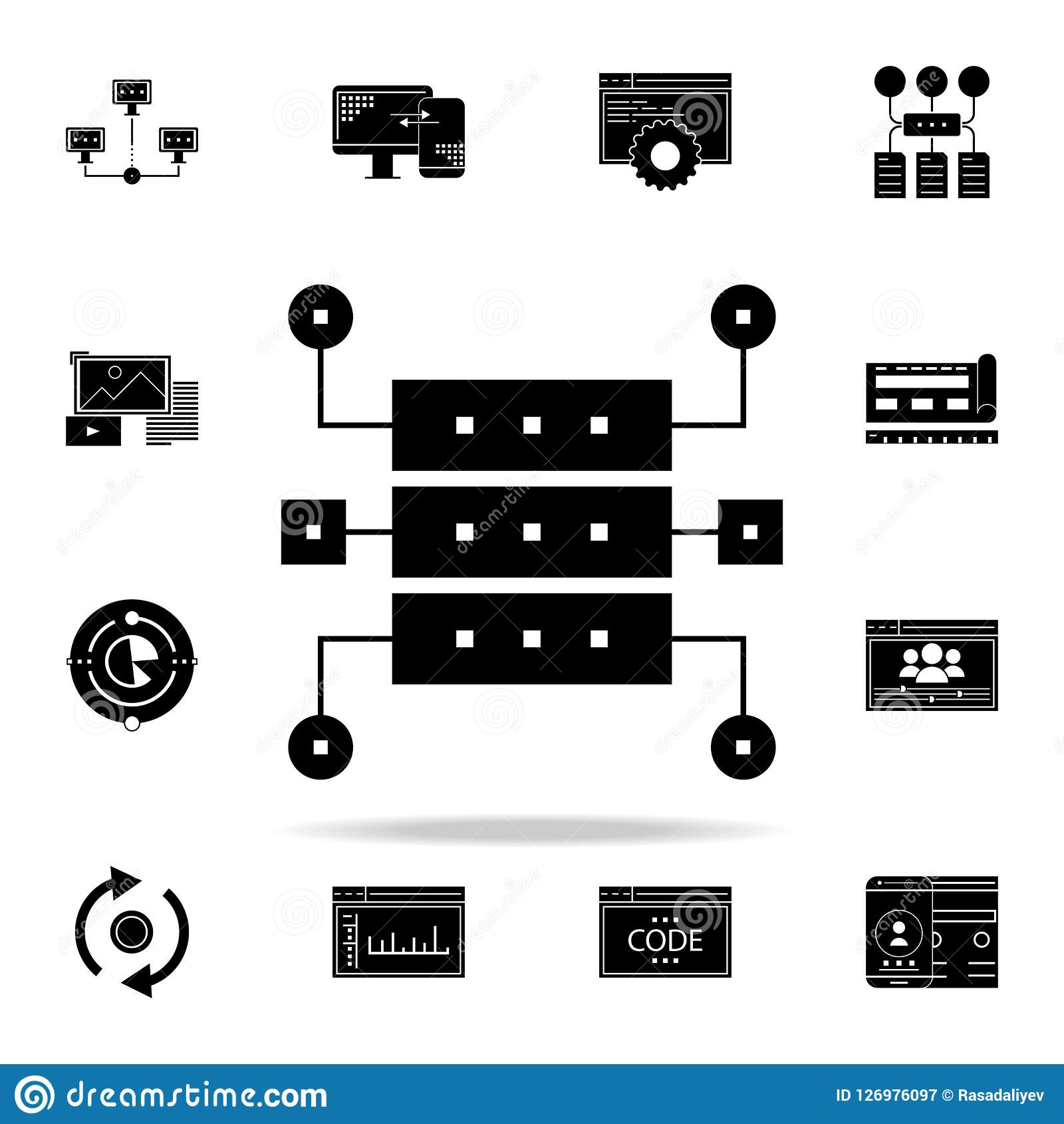 data structure icon web development icons universal set for web and mobile stock illustration illustration of global internet 126976097 dreamstime com