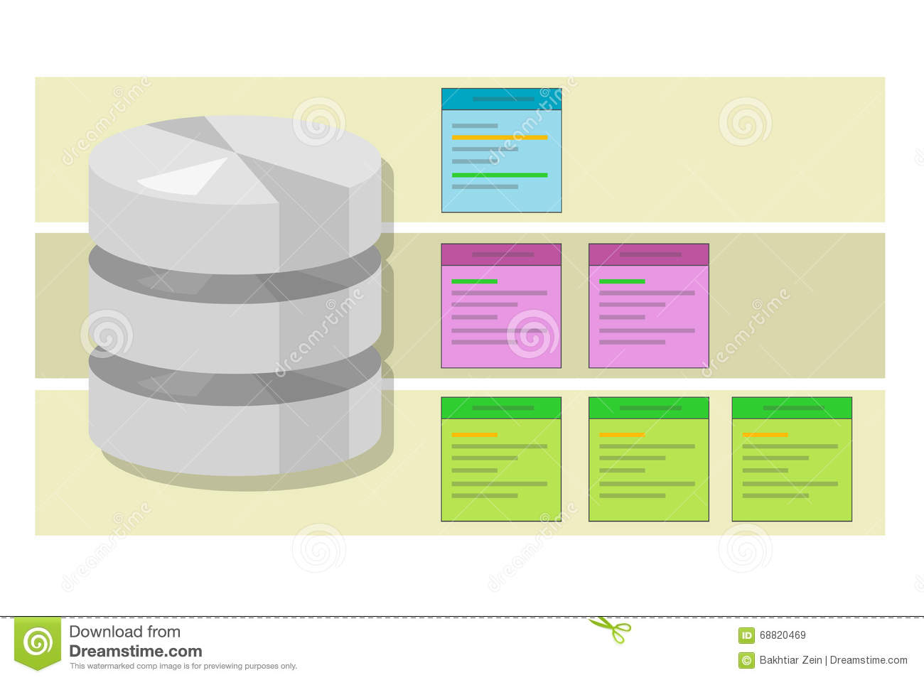Data Table Query Database Index Symbol Vector Illustration Concept ...