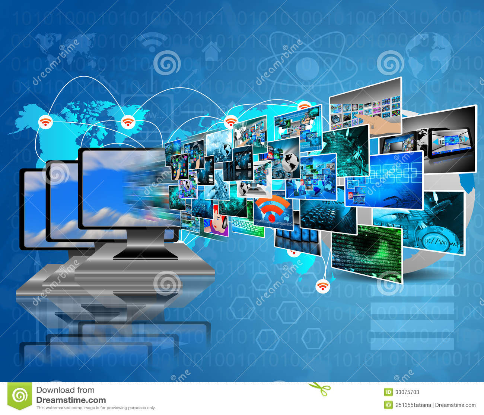 Computers Technology: Data Transfer Stock Photos