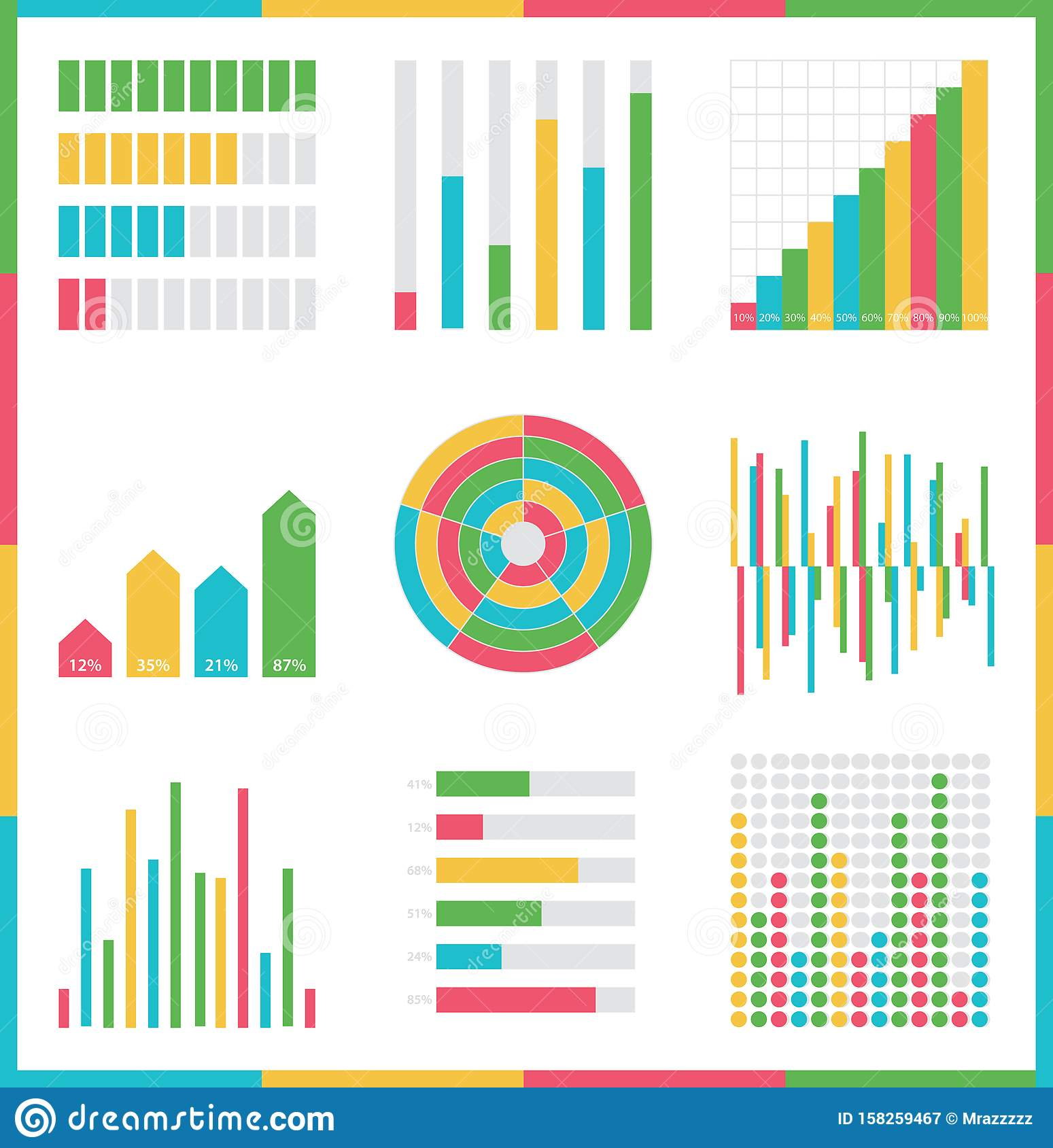 Infographic vector set. Rich collection of elements for marketing presentation, business reports
