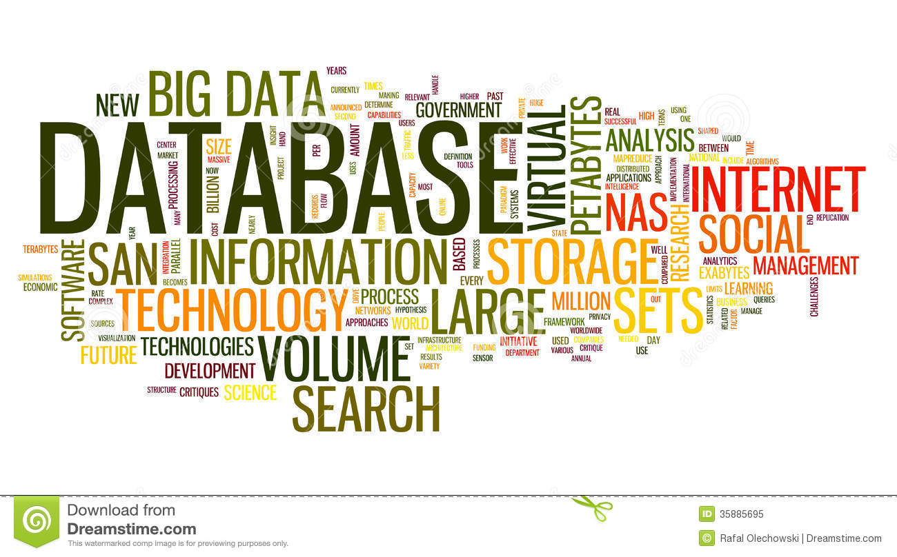 database concept in word cloud royalty free stock photo   image 35885695