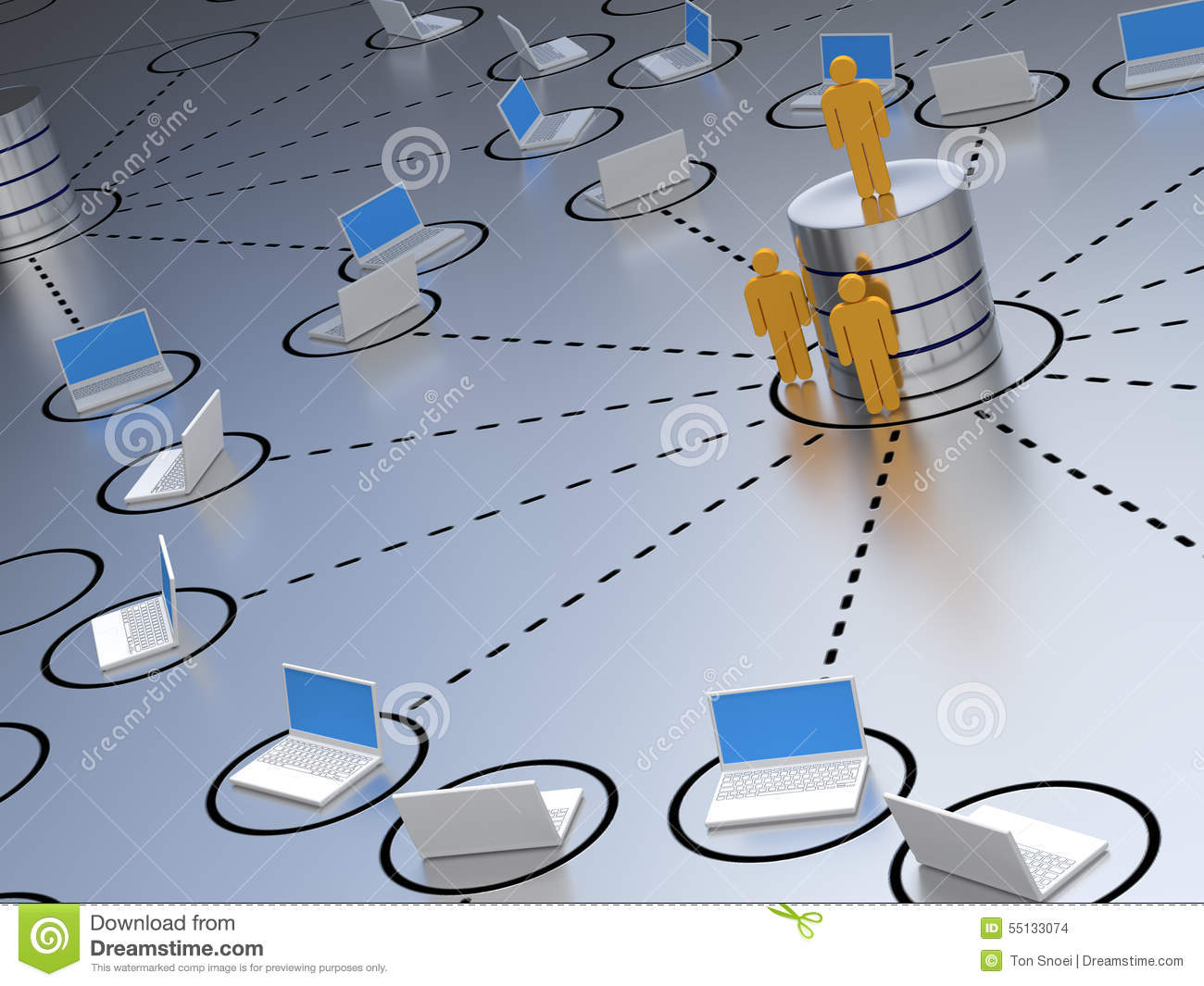 database engineer stock illustration image 55133074