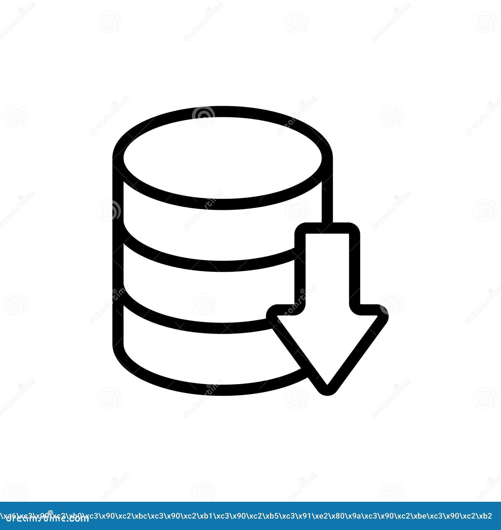 Database Flat Icon Stock Vector Illustration Of Internet 102673476