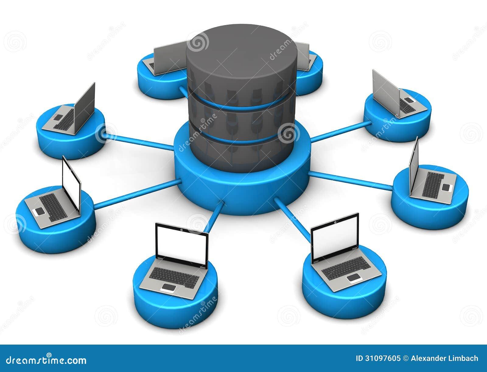 Database Laptops Royalty Free Stock Photo