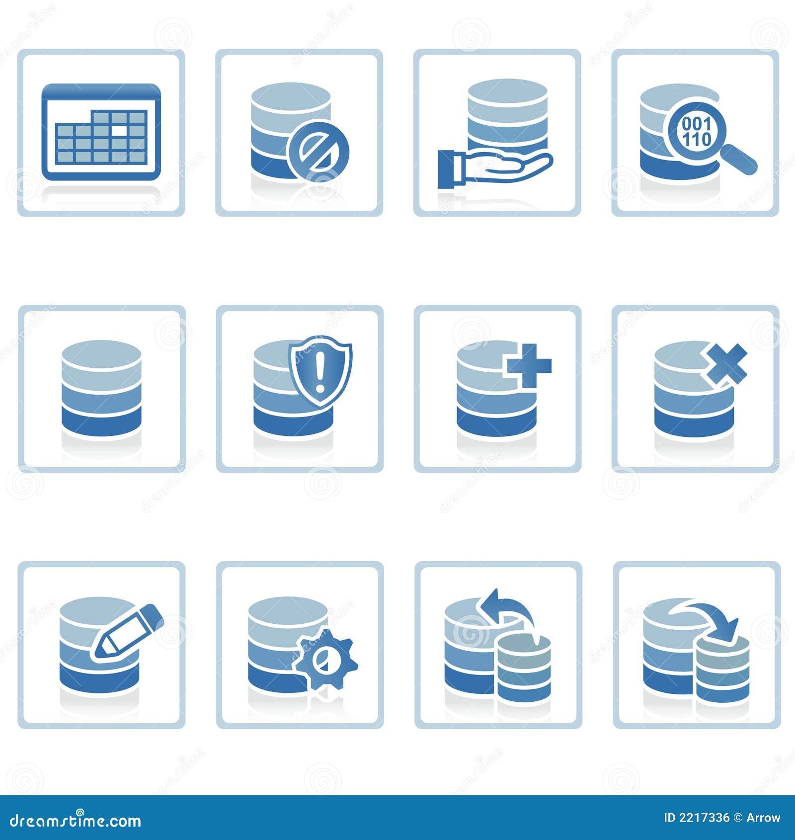 database management icon stock illustration illustration of hand
