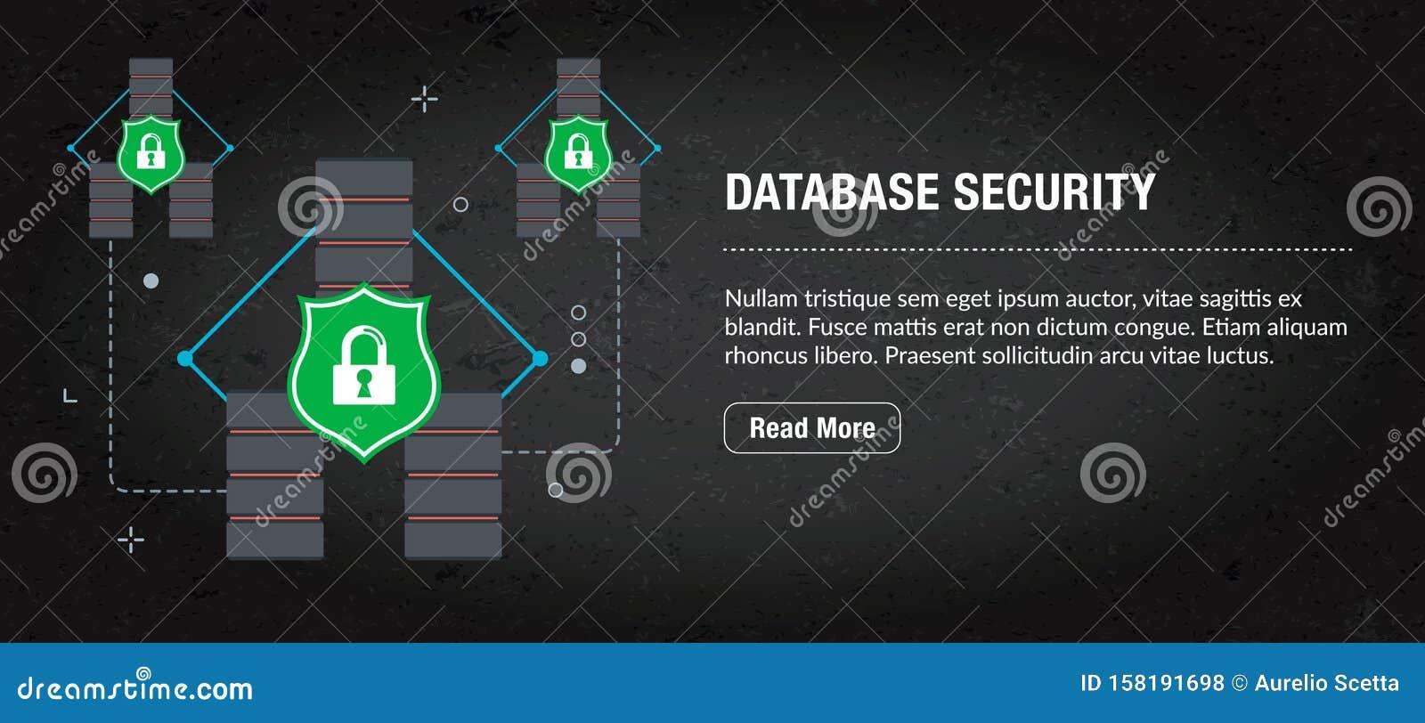 Database Security Concept Banner For Internet Stock Vector Illustration Of Banner Hardware 158191698