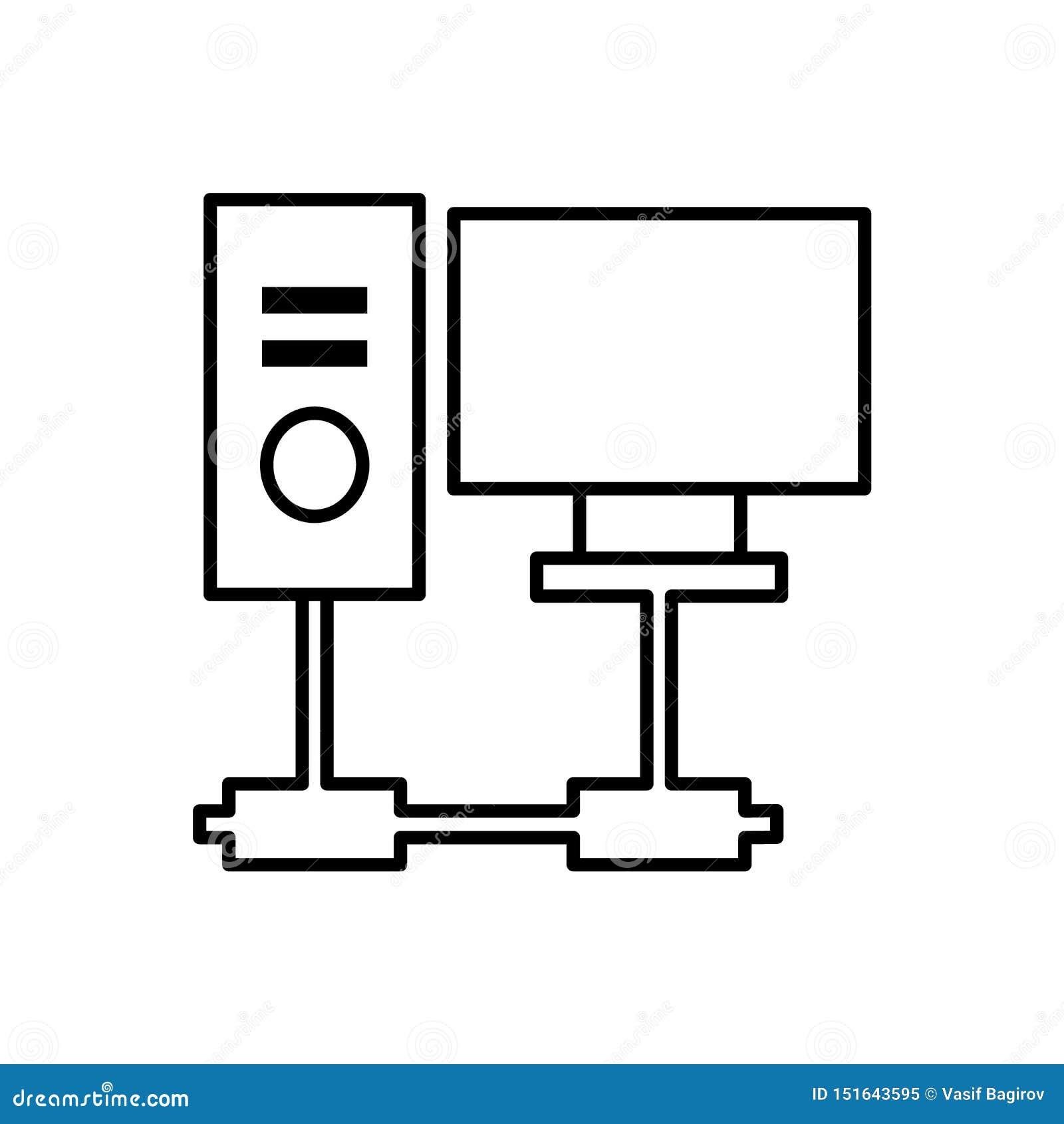 Database, server, computerpictogram - Vector Gegevensbestand vectorpictogram