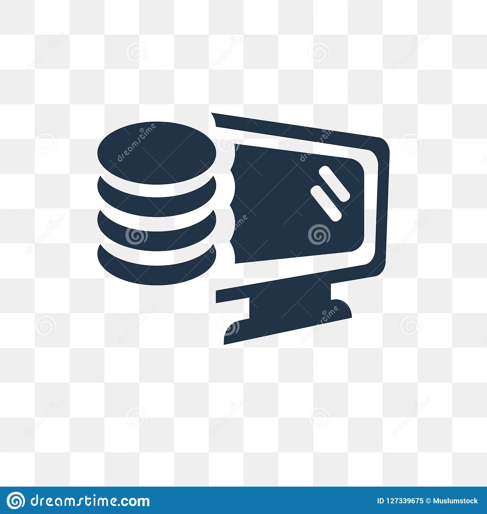 Database Vector Icon Isolated On Transparent Background