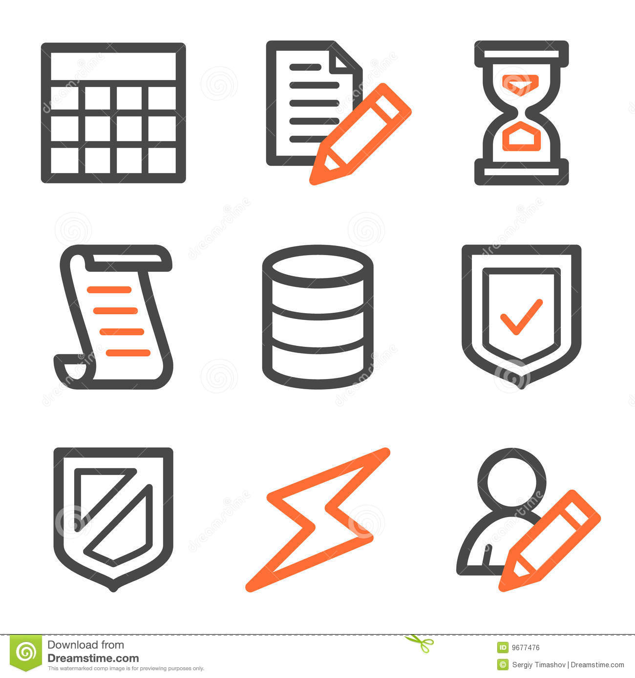 Vector web icons  orange and  Table Icon Vector