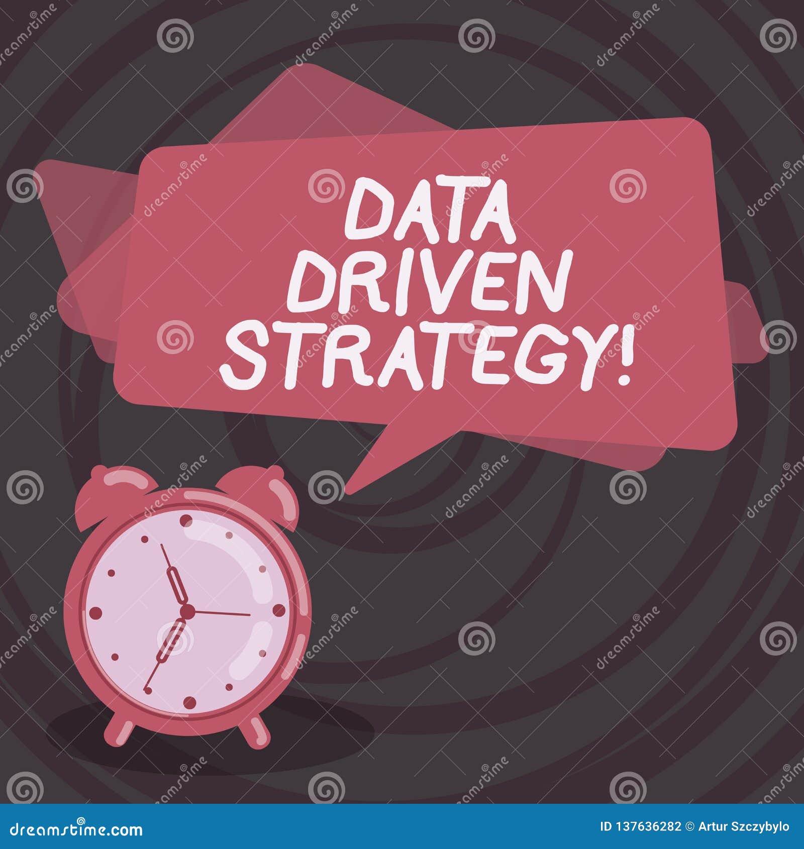 Datadriven strategi för ordhandstiltext Affärsidé för beslut som baseras på dataanalys och tolkningsmellanrum