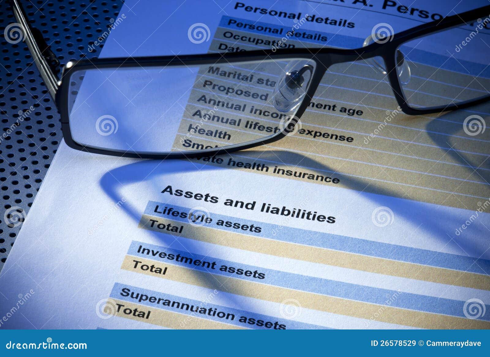 Datalista för tillgångansvarsförsäkring