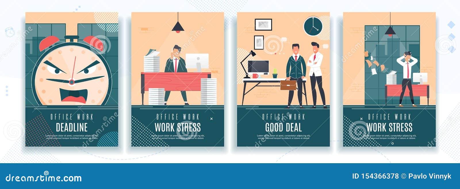 Date-butoir, contraintes du travail, ensemble plat de bannière de bonne affaire