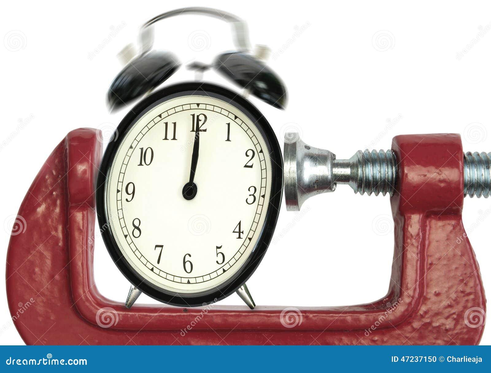 Date-butoir de pression de temps