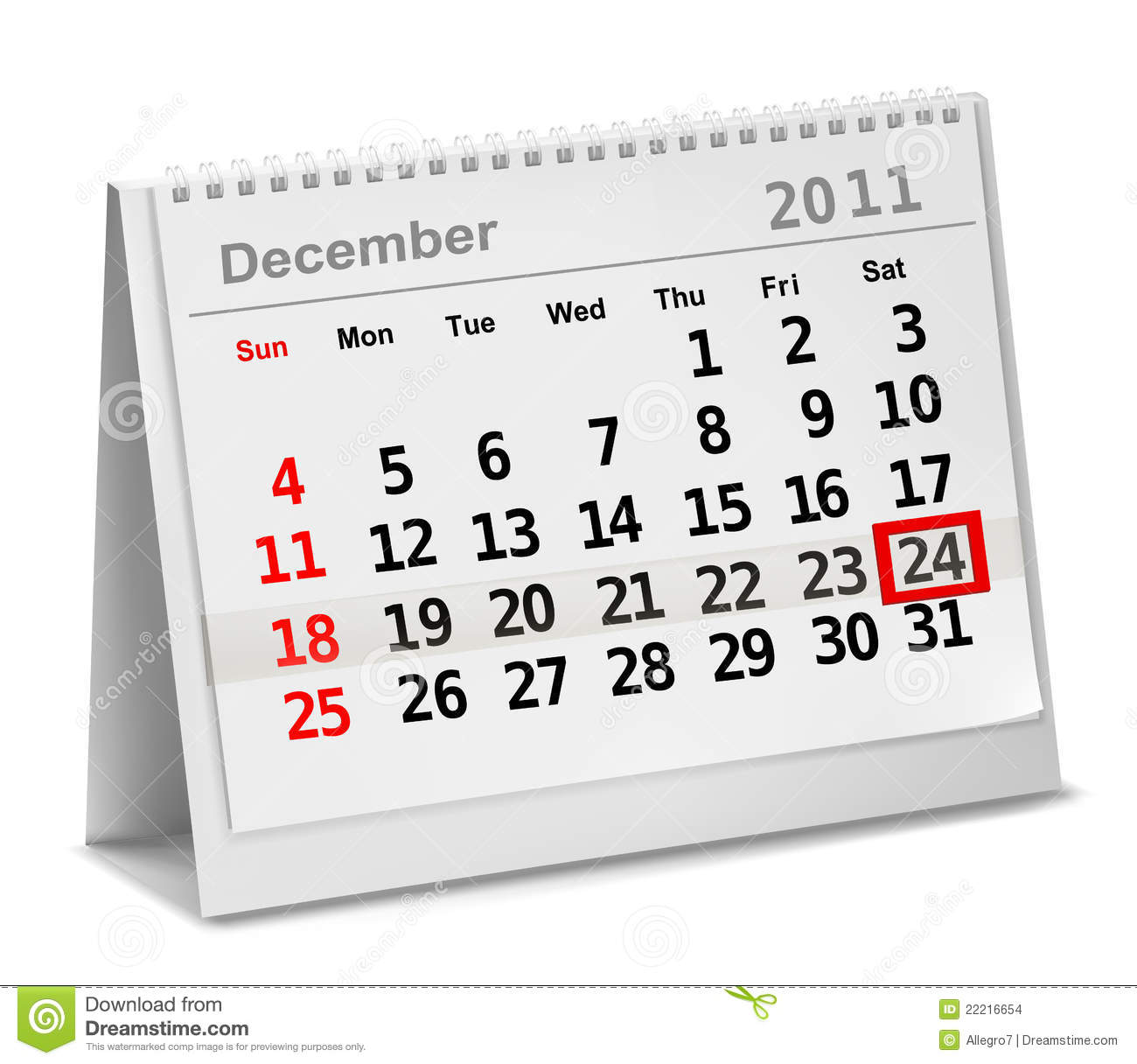 Calendar Dates : A date circled on calendar with red ink stock vector